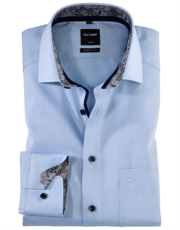 Olymp lichtblauw luxor modern fit hemd