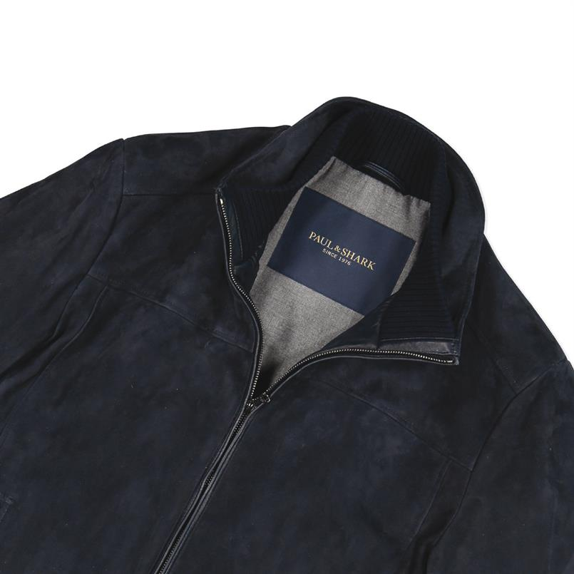 Paul & Shark Blouson/jack suede in blauw I18P2230