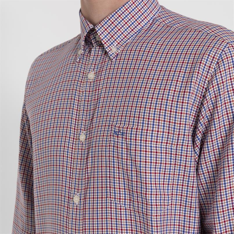 Paul & Shark geruit overhemd - I19P3075