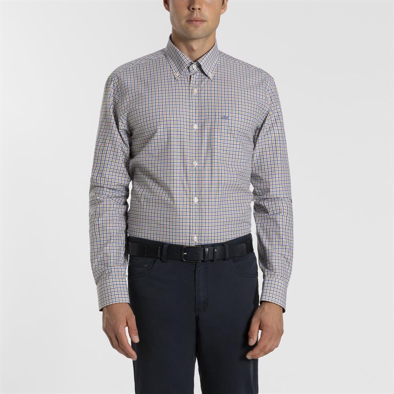 Paul & Shark geruit overhemd - I19P3147