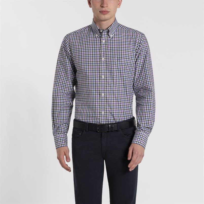 Paul & Shark geruit overhemd - I19P3148