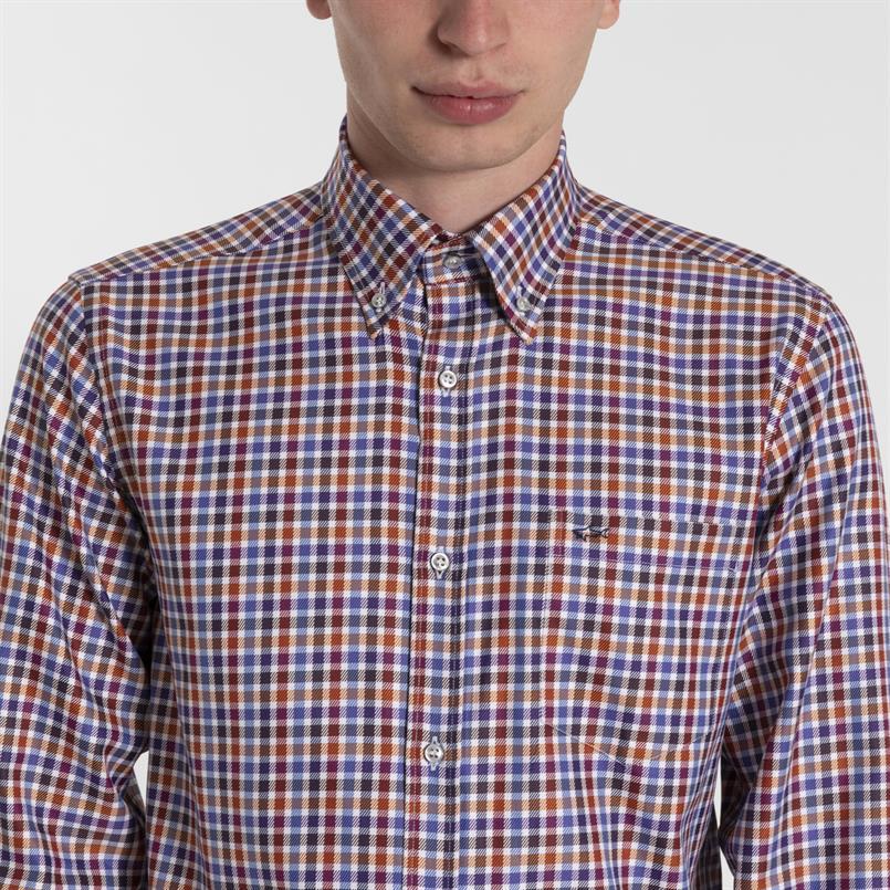 Paul & Shark geruit overhemd - I19P3198