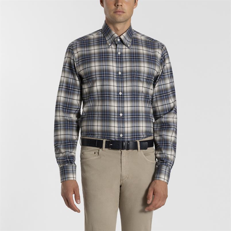 Paul & Shark geruit overhemd - I19P3276