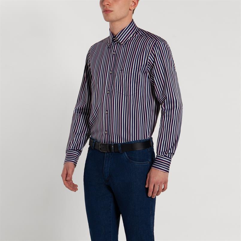 Paul & Shark gestreept overhemd - I19P3045