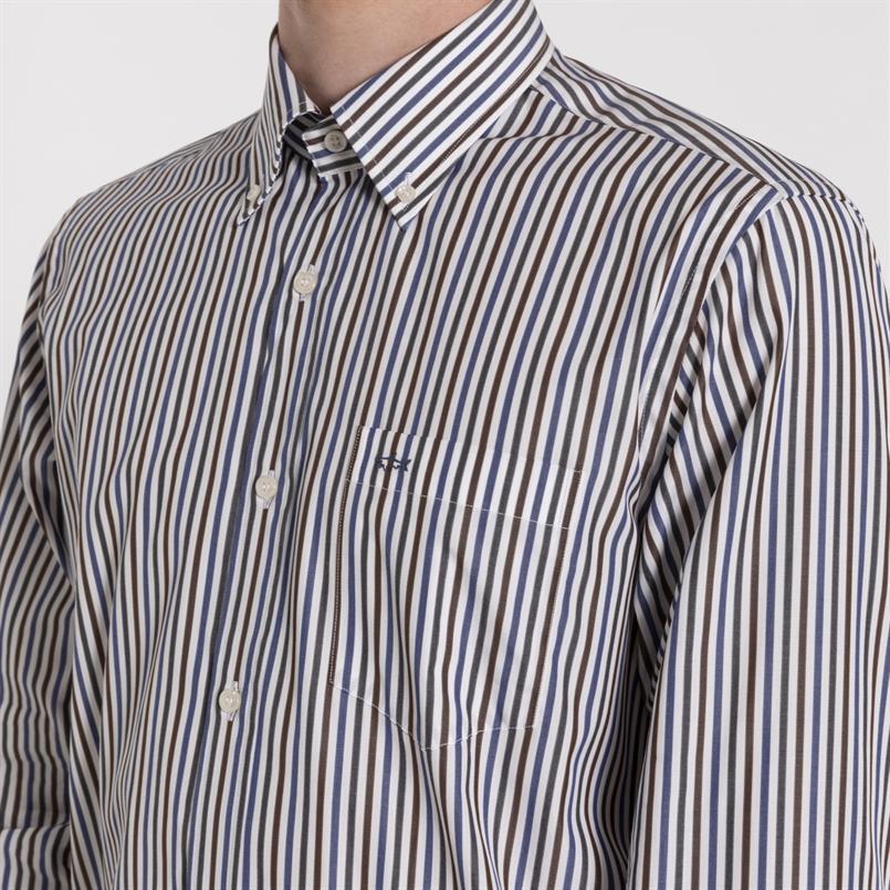 Paul & Shark gestreept overhemd - I19P3143