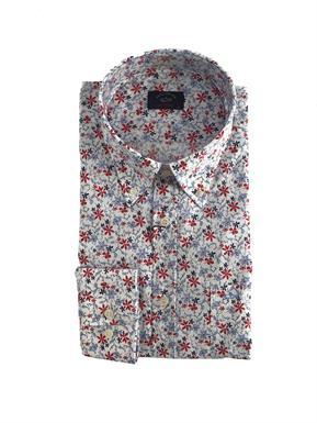 Paul & Shark Overhemd Fantasie bloem - Lange mouw