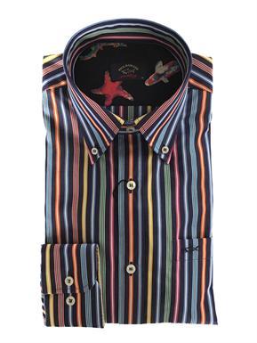 Paul & Shark Overhemd multicolour striping - Lange mouw