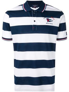 Paul & Shark Polo in Wit/blauw KM - E19P1269