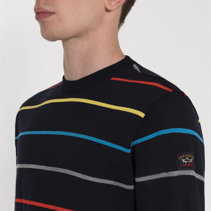 Paul & Shark pullover multicolour streep - I19P1010