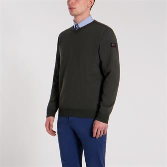 Paul & Shark pullover/trui in groen COP1041