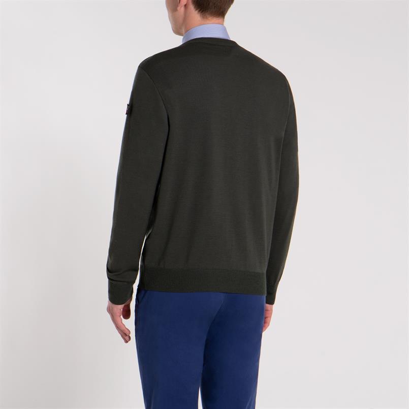 Paul & Shark pullover/trui in groen COP1041