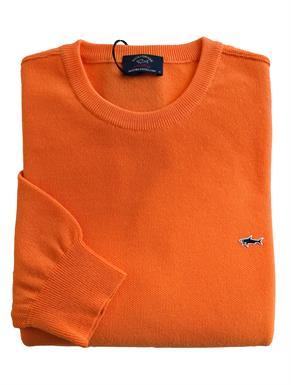 Paul & Shark Pullover/trui in helder oranje merinowol