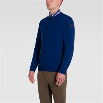Paul & Shark pullover/trui in kobalt C0P1041