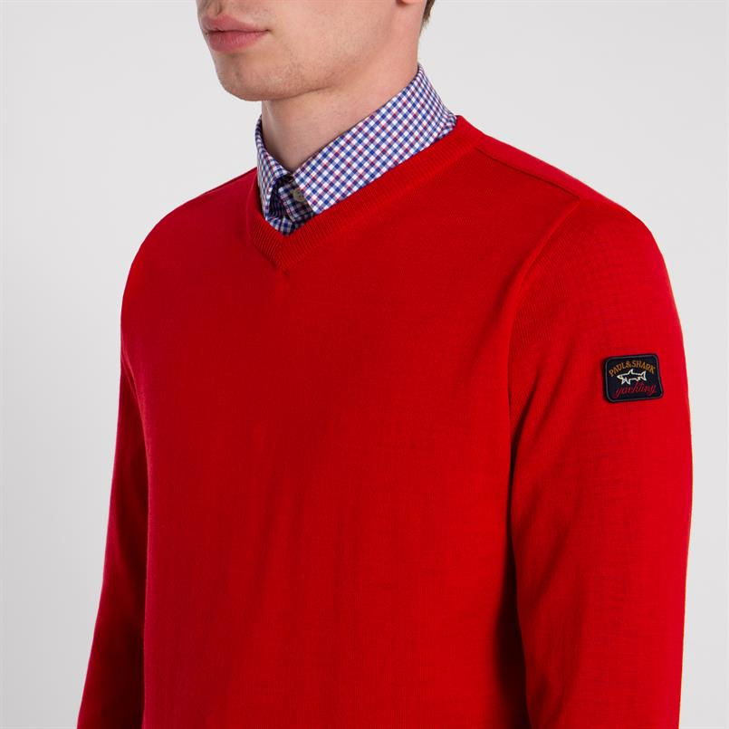 Paul & Shark pullover/trui in rood COP1041
