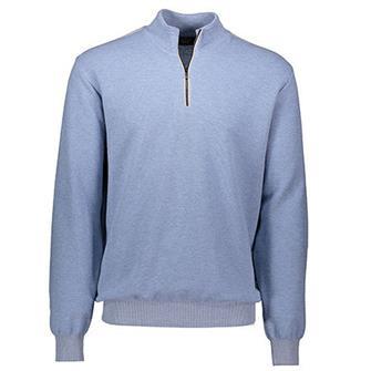 Paul & Shark Pullover/trui met zipper en leeraplicaties