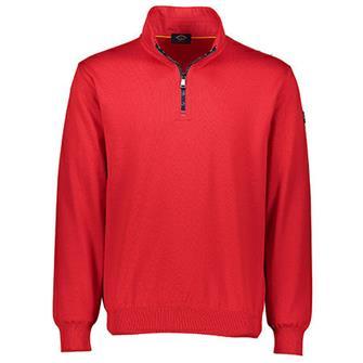Paul & Shark Pullover/trui turtleneck met zip in helder rood