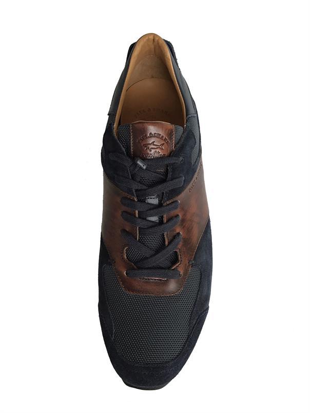 Paul & Shark Sneaker in Navy/bruin E19P8008