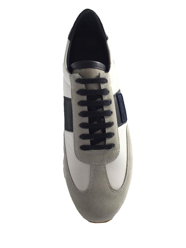 Paul & Shark Sneaker in Wit/navy E19P8012