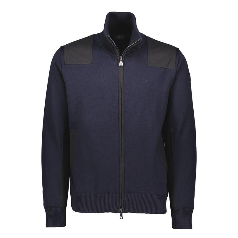 Paul & Shark Vest/cardigan zip navy I18P1247