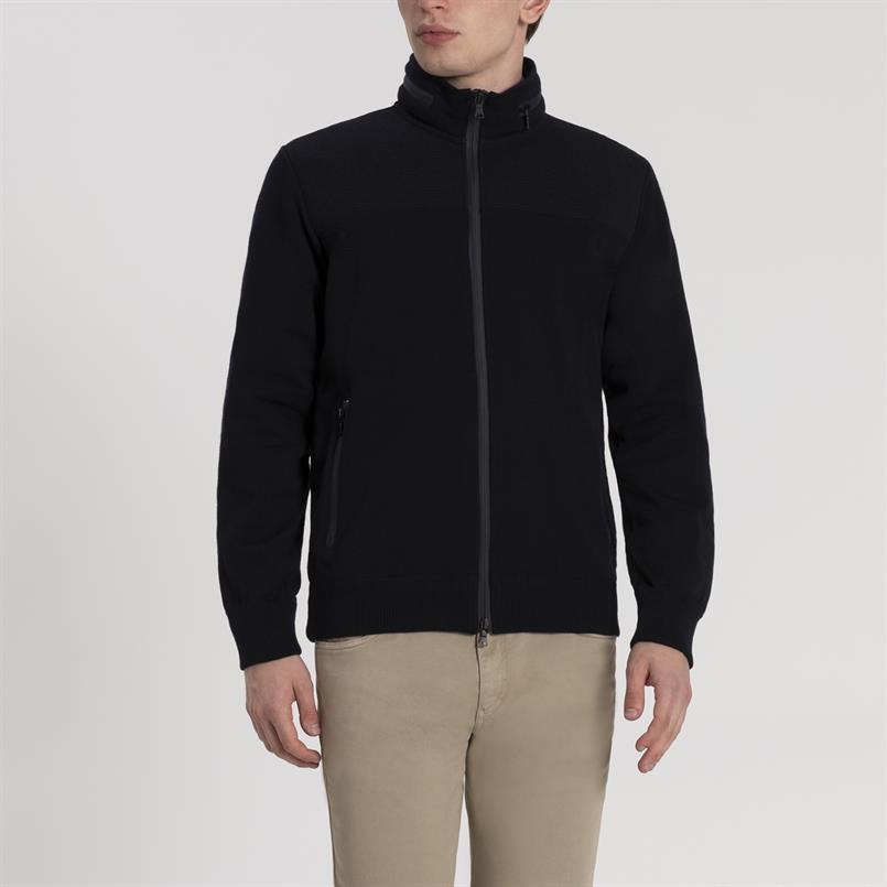 Paul & Shark vest met hoodie - I19P1267