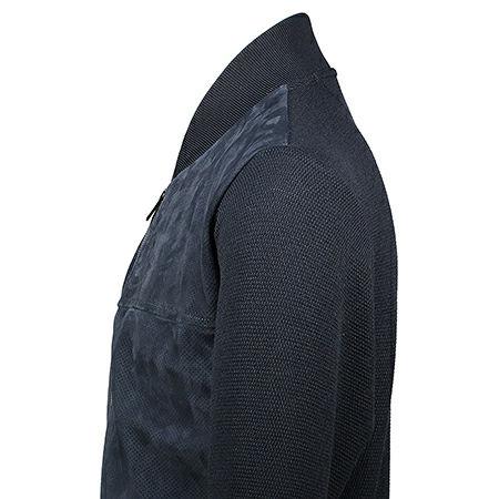 Paul & Shark Vest met leren front Navy P19P1717
