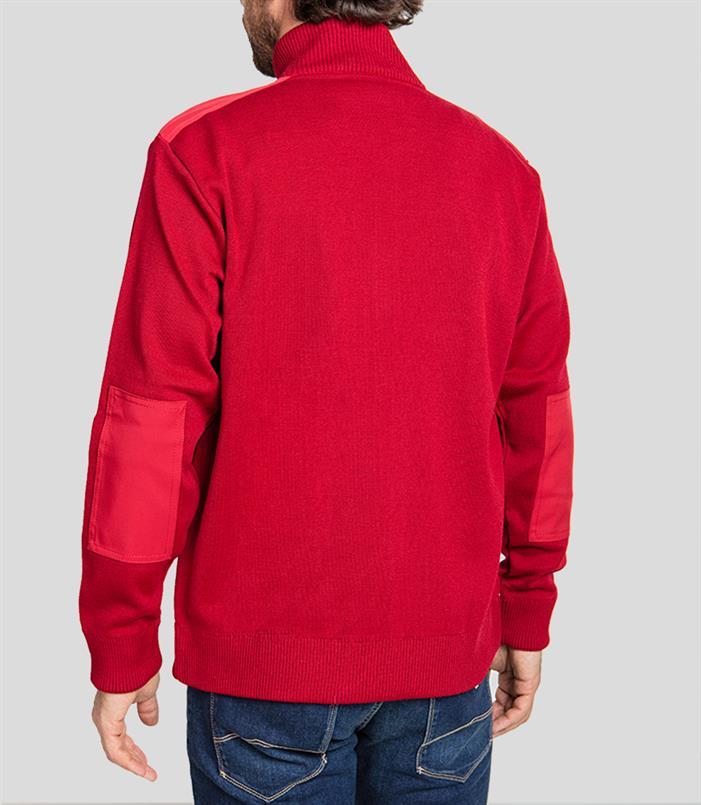Paul & Shark vest met zip in bordeaux - C0P1029