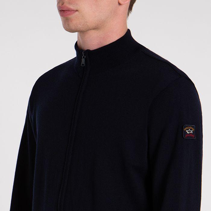Paul & Shark vest met zip in navy - C0P1044