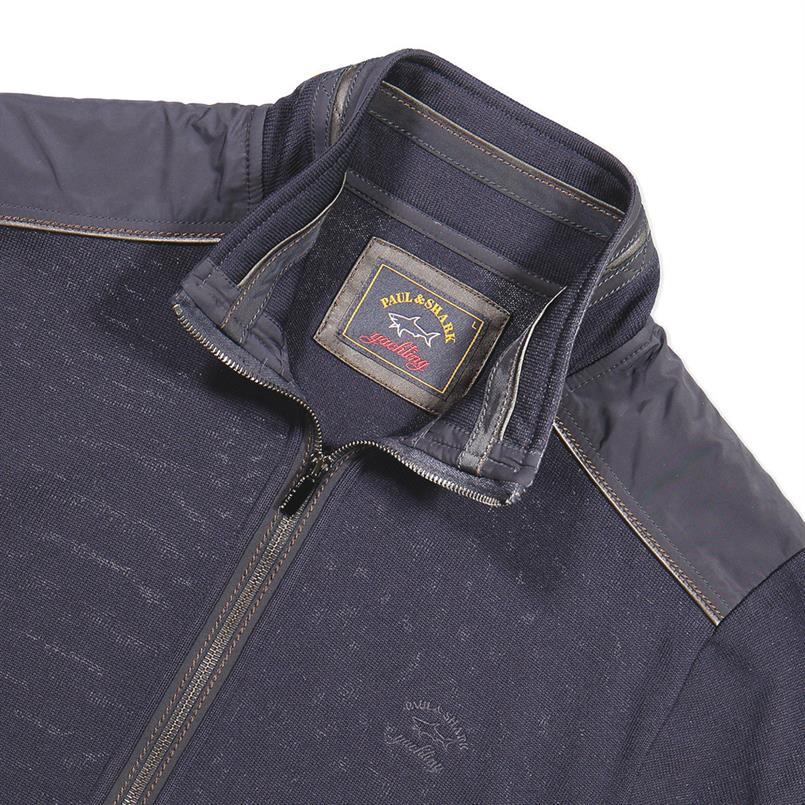 Paul & Shark Vest met zip in navy - I18P1217